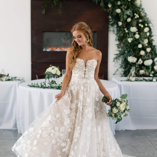 Bohemian Blossoms bride